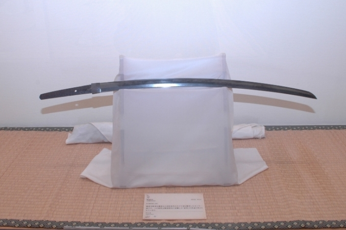 One of the exhibits—a sword