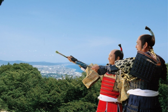 Odawara from single night castle which Hideyoshi would look at