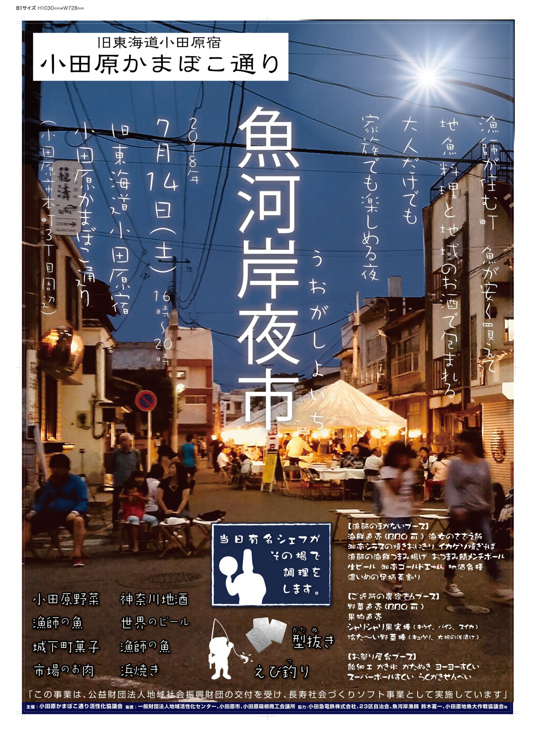 Riverside fish market night market poster