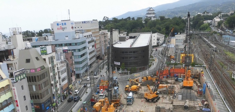 Odawara Station east exit castle street district redevelopment business