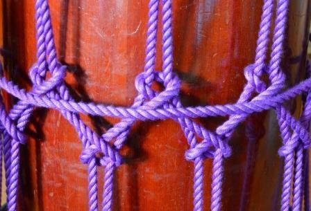 締太鼓の組紐の結び