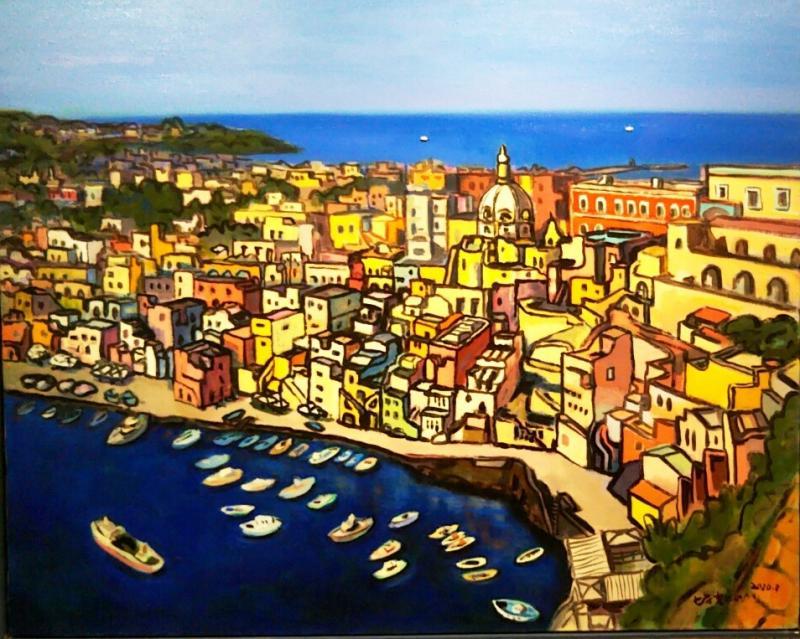青と黄の対比にみる地中海の陽光