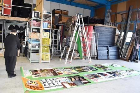 写真3:シャム猫カンパニー倉庫の調査