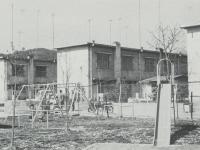 簡易耐火の2階建の市営住宅