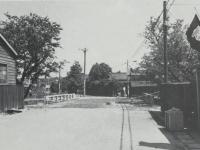 久野川橋、現市役所前の道路