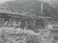 老朽化している太閤橋