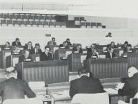 市議会議場議員席