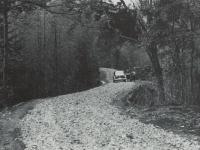 開通した威張山林道