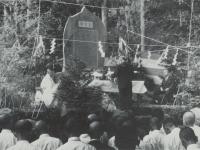 足柄幹線林道記念碑の除幕式