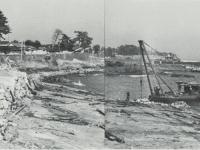 しゅんせつ中の小田原漁港