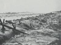 酒匂川の濁流