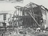 火災にあった市立芦子小学校木…