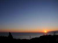 石垣山一夜城からの初日の出