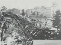 市立城山中学校の火災現場