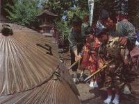曽我の傘焼き祭り