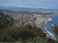 早川横磯の山からみた市街地