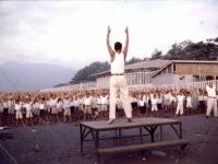 御幸の浜でラジオ体操