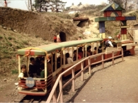 城址公園内を走る豆電車