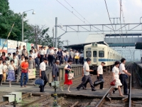 栢山駅と2300系