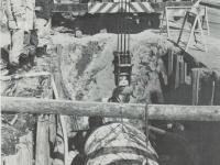 水道管の埋設工事
