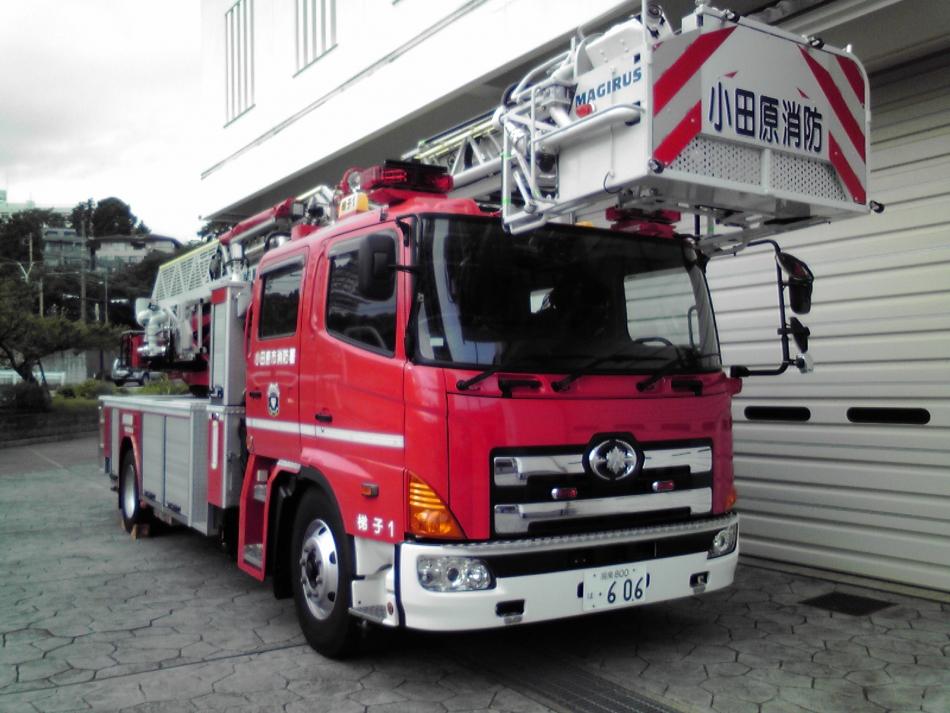 はしご付き消防自動車