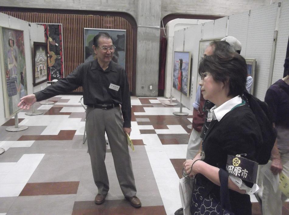 西相美術協会副会長自ら取材に応じていただきました。