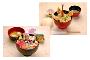 Odawara don (rice bowl with toppings)