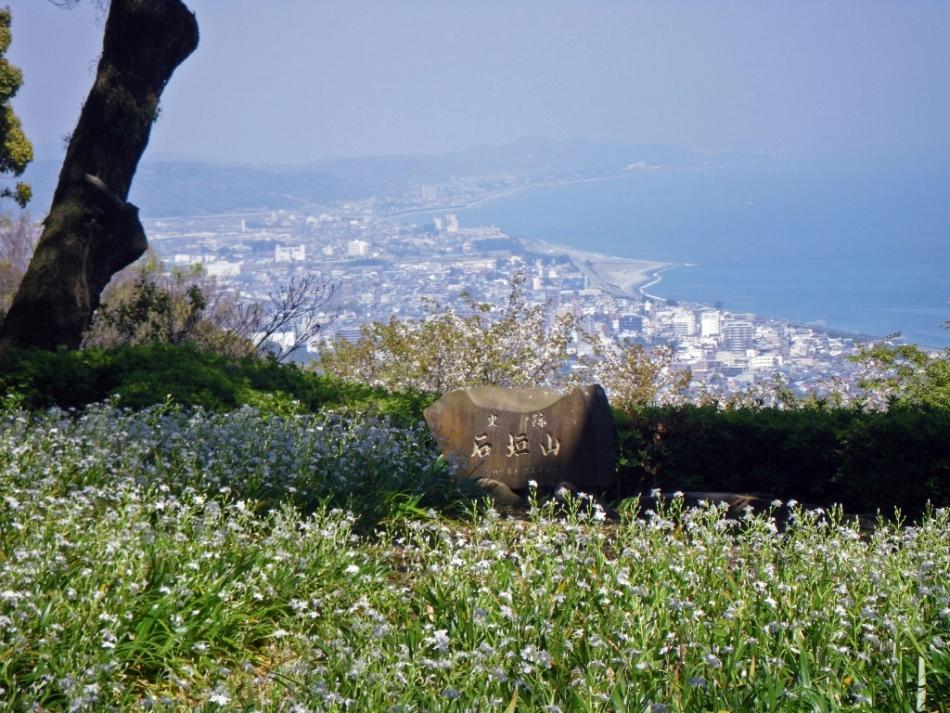 Vista de la bahía de Sagami desde el monte Ishigaki-yama