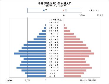 平成2年国勢調査の人口ピラミッド