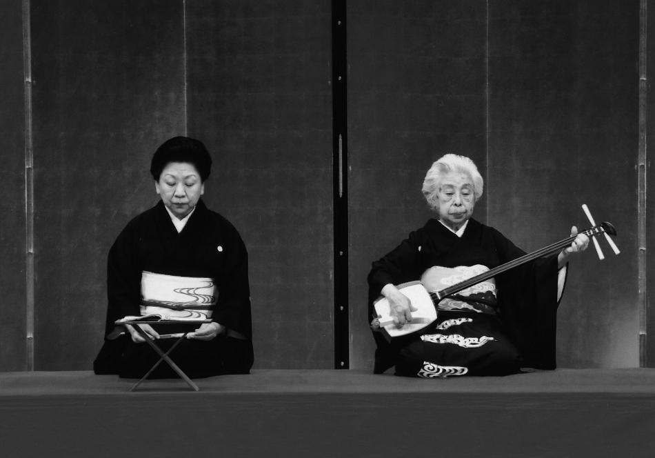 杵屋響泉さんと娘の杵屋六響さんの演奏