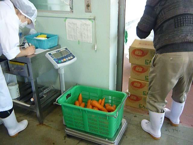 野菜の検収