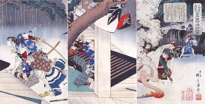 十郎祐成・五郎時致 富士野狩場討入図