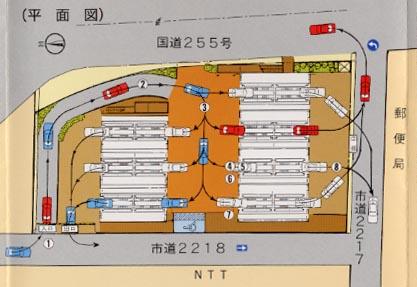栄町駐車場平面図