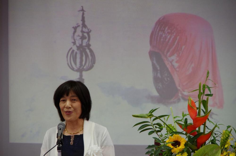 市長賞受賞者スピーチ(写真)