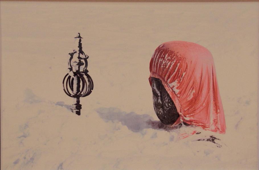 第67回市展 市長賞 写真 風雪に耐える 飯田栄子