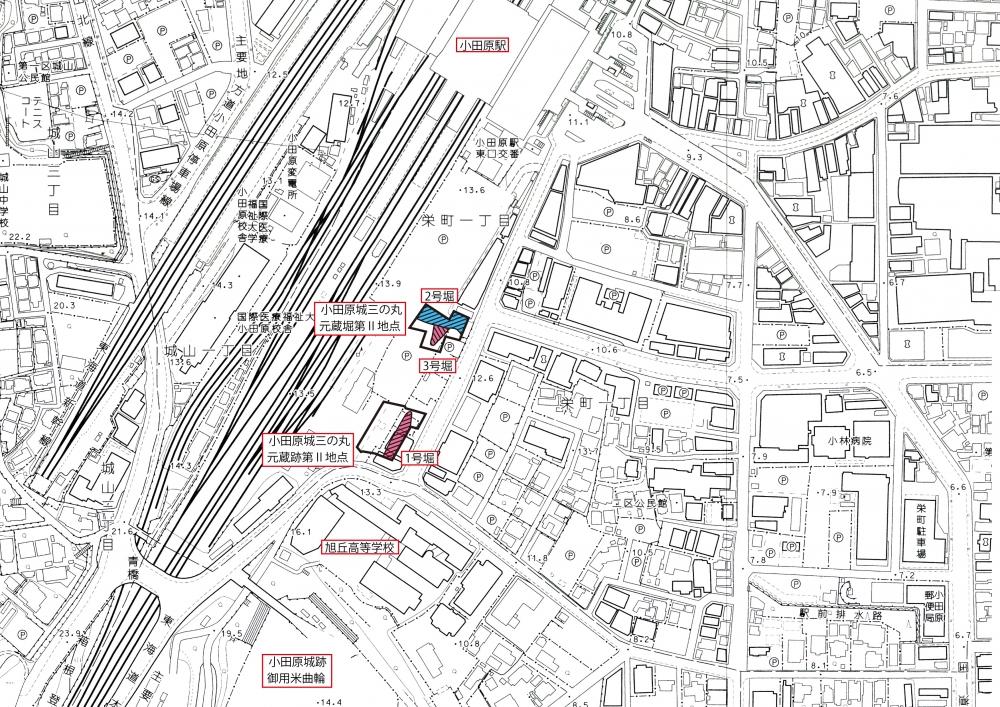 図2 調査地点と堀の位置