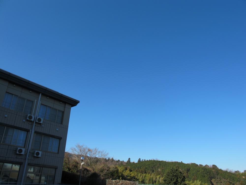 合宿会場と青空