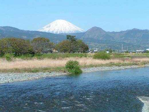 富士山と酒匂川