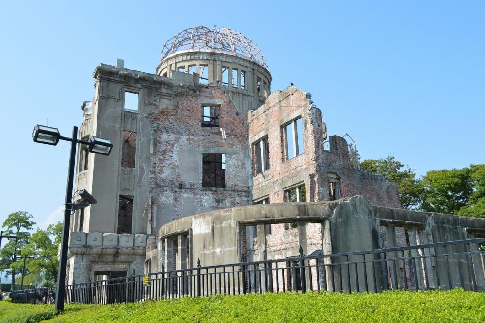 広島平和記念公園内見学(原爆ドーム)