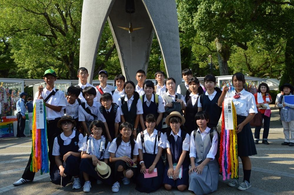 広島平和記念公園内見学(千羽鶴奉納)