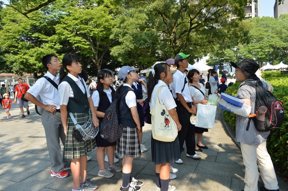 広島平和記念公園内見学
