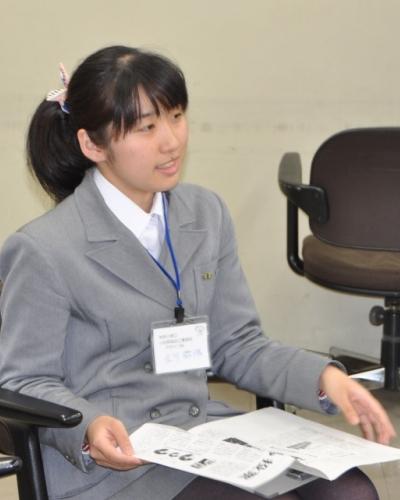 小田原城北工業高校デザイン科 立川さん