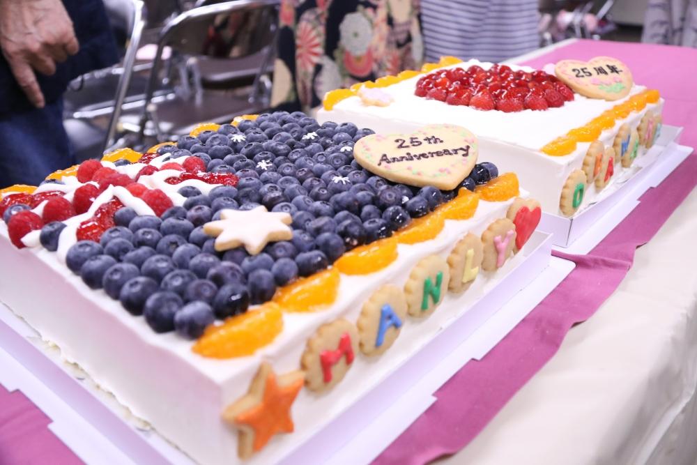 小田原産の果物を使った25周年記念ケーキ