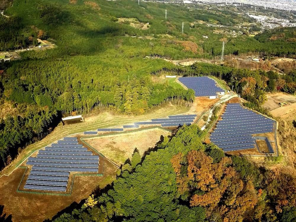 久野地区の大規模太陽光発電所