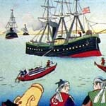 米船渡来旧諸藩士固之図の中央(部分)
