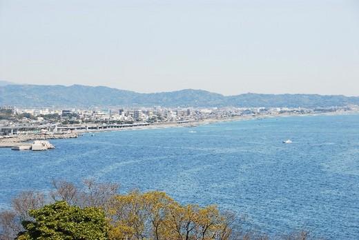 江之浦から見た海画像
