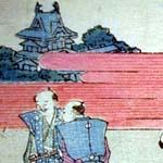 小判横絵の左側(部分)