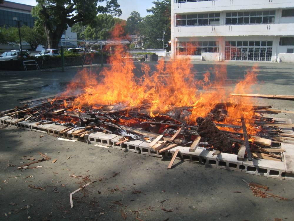 燃える土器
