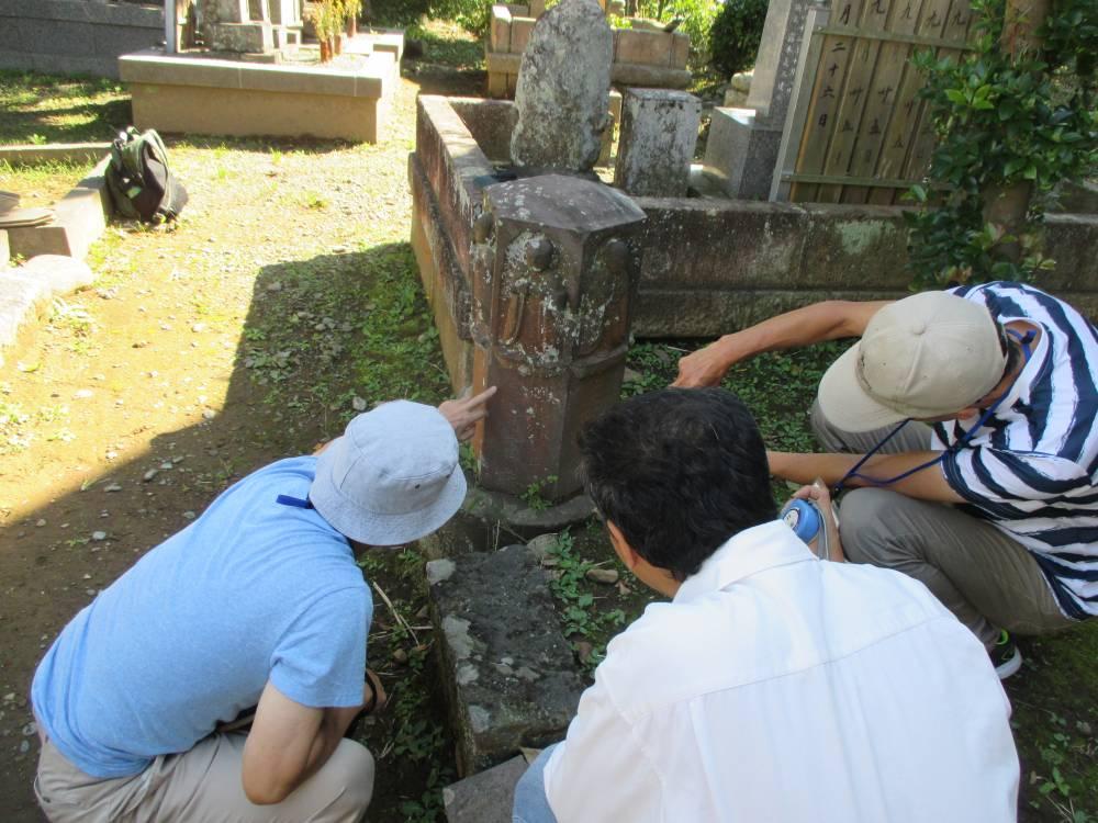 石造物調査会調査風景