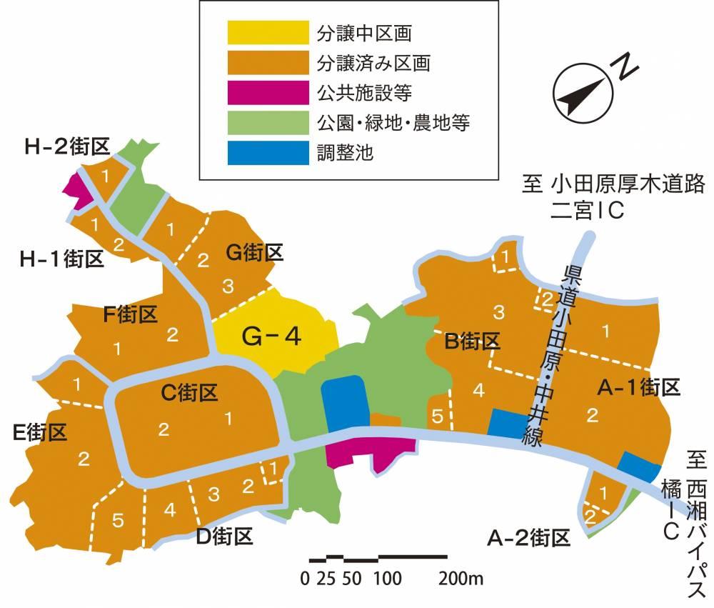 西湘テクノパーク分譲区画概略図